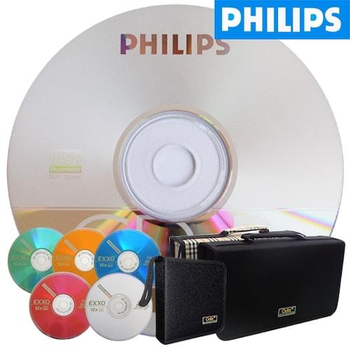 필립스 CD-R 700MB 52x 케익 100장 + 시디자켓 (50*2)_이미지