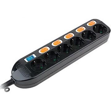 동양전자산업  6구 개별접지 멀티탭 블랙 (1.5m)