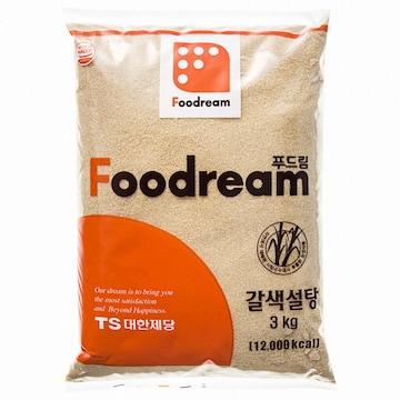 대한제당 푸드림 갈색설탕 3kg(1개)