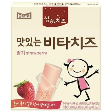 매일유업 상하치즈 맛있는 비타치즈 딸기 96g (1개)