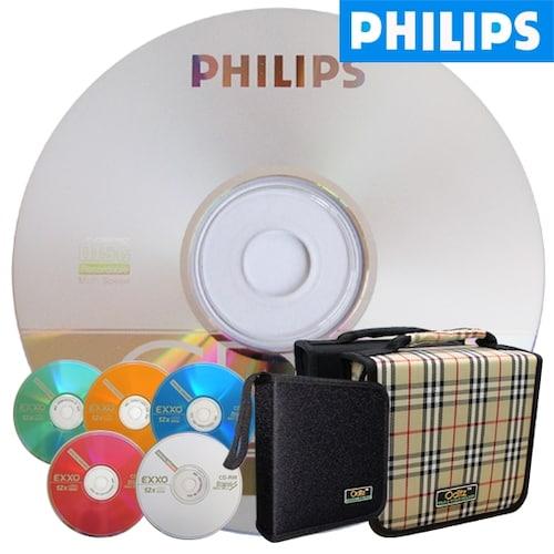 필립스 CD-R 700MB 52x 케익 + 시디자켓 (50장)_이미지