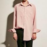팀씨에스피 YAN13 OVERSIZE STRIPE SHIRTS (핑크)