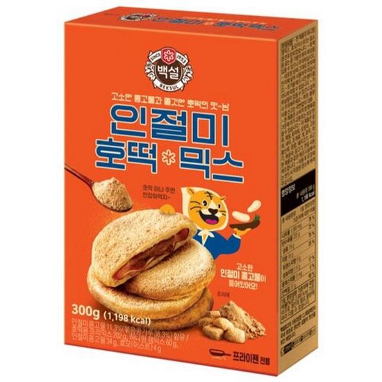 CJ제일제당 백설 인절미 호떡 믹스 300g(5개)