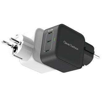 바이퍼럭스 클레버 타키온 USB-PD PPS/QC3.0 75W 3포트 GaN 접지형 충전기 G12CA_이미지