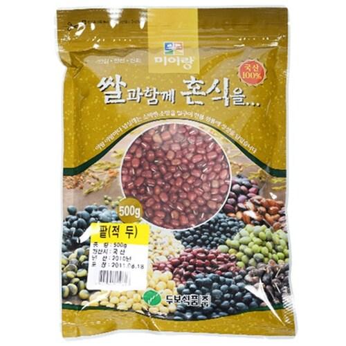 두보식품  팥(적두) 500g (1개)_이미지