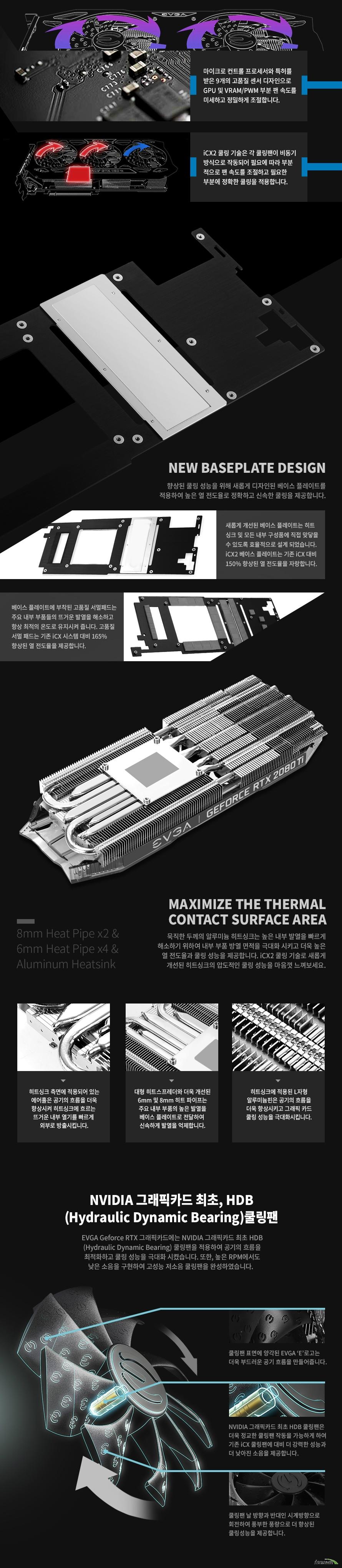 EVGA  지포스 RTX 2080 Ti BLACK EDITION GAMING D6 11GB