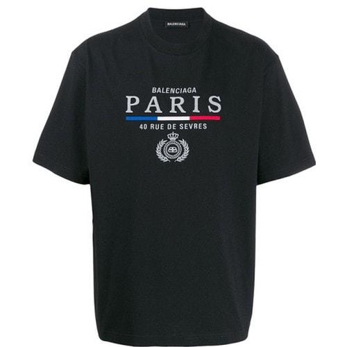 발렌시아가 PARIS 반팔 티셔츠 594579 TGV48 1000_이미지