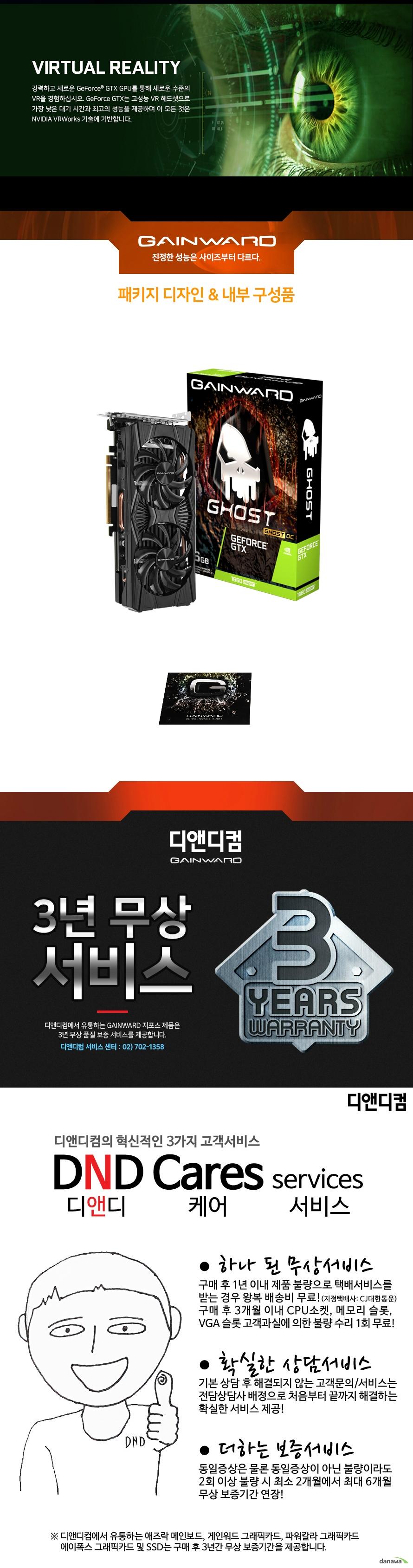 GAINWARD  지포스 GTX 1660 SUPER 고스트 OC D6 6GB 백플레이트