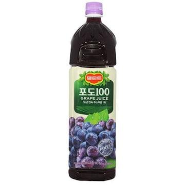 롯데칠성음료 델몬트 포도 주스 100 1.5L(12개)