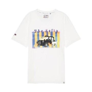 헤지스 토드셀비 퍼피 프린트 면 반팔 티셔츠