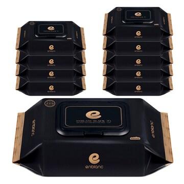 앙블랑  블랙 물티슈 캡형 70매 (10팩, 700매)