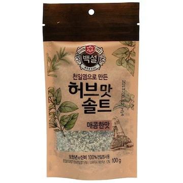 CJ제일제당 백설 허브맛솔트 매콤한맛 100g