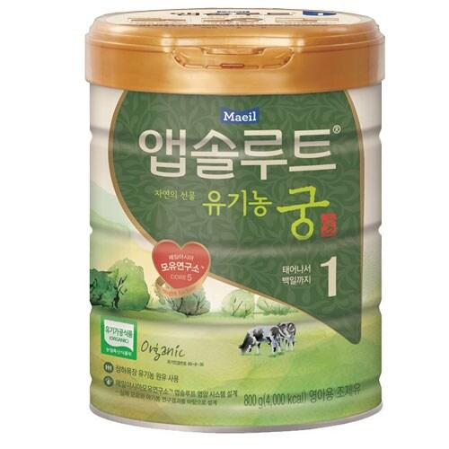 매일유업  앱솔루트 자연의 선물 유기농 궁 1단계 800g (3캔)_이미지