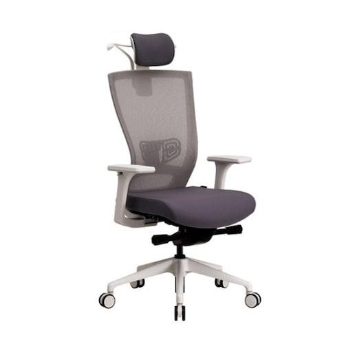 리바트 네오스 T553G 화이트쉘 메쉬 의자 TOH55362LWGY_이미지