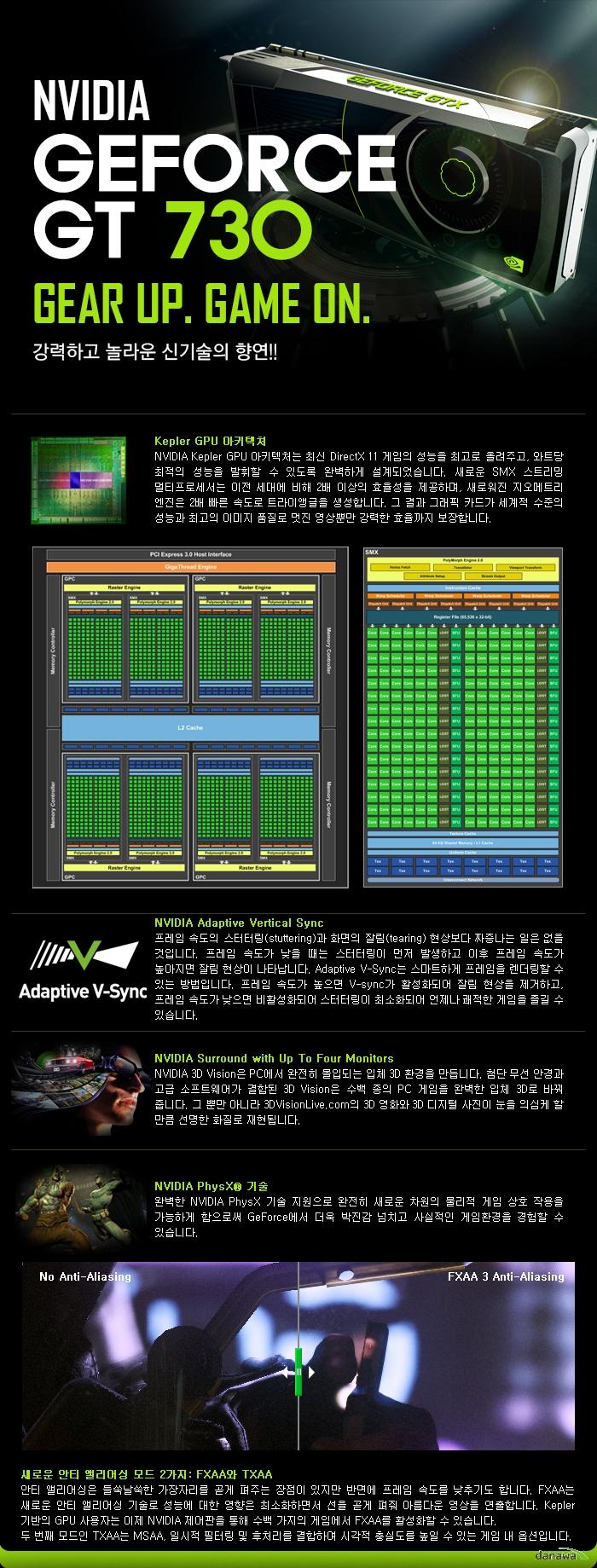inno3D Mach inno3D 지포스 GT730 D3 1GB LP 무소음 제품 기술설명
