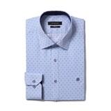 루이까또즈  긴소매 블루물방울 스트라이프 슬림핏 셔츠 Q7C342H_이미지