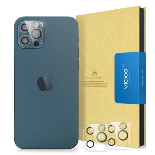 케이엠크레비즈 VICXXO 아이폰12 프로 맥스 후면 카메라 렌즈 강화유리 보호필름 (후면 2매)_이미지