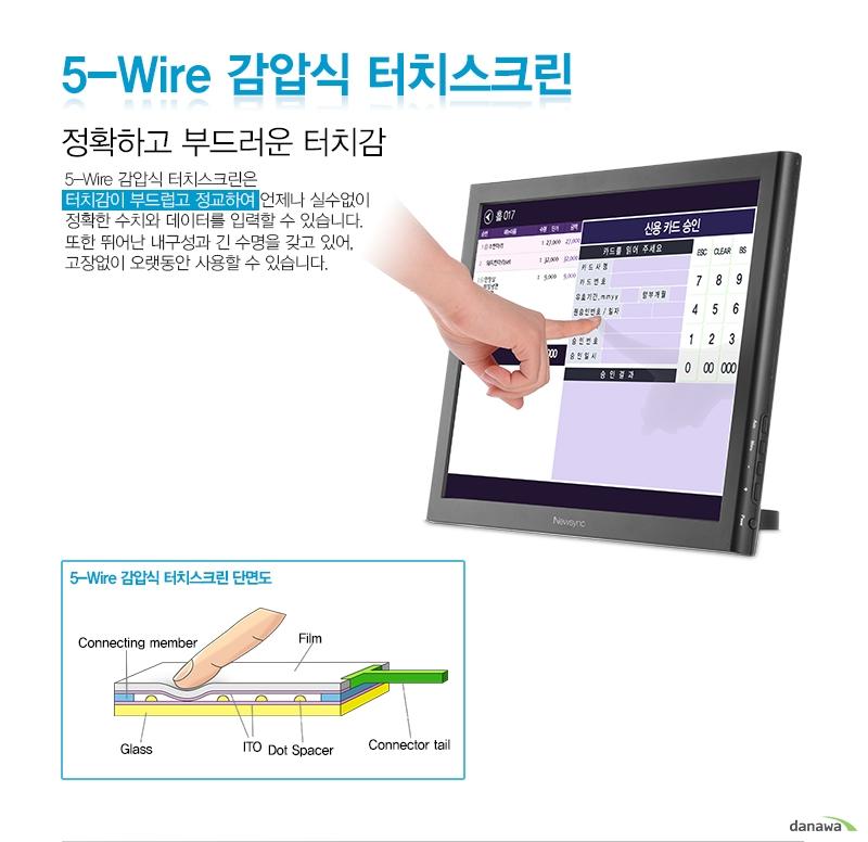 5-wire 감압식 터치스크린