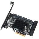 10포트 SATA3 PCIe 카드