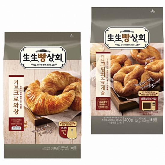 롯데제과 생생빵상회 커브크로와상 5개입 350g + 미니 크림치즈프레즐 10개입 400g(1개)