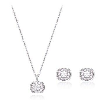 [2종] 끄란느 14K 천연 다이아몬드 1부 목걸이+귀걸이