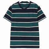 제일모직 빈폴 그린 싱글 볼드 스트라이프 라운드넥 티셔츠 BC8342C31M_이미지