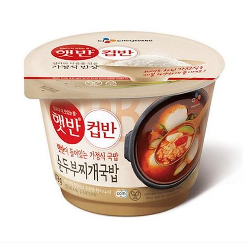 CJ제일제당 햇반 컵반 순두부찌개국밥 173.7g (6개)_이미지
