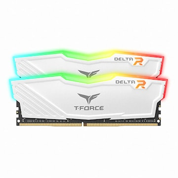 TeamGroup T-Force DDR4 16G PC4-25600 CL16 Delta RGB 화이트 (8Gx2) 서린