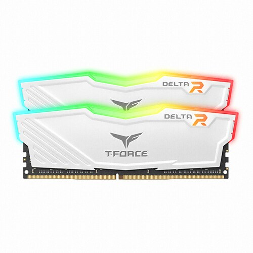 TeamGroup T-Force DDR4 16G PC4-25600 CL16 Delta RGB 화이트 (8Gx2) 서린_이미지