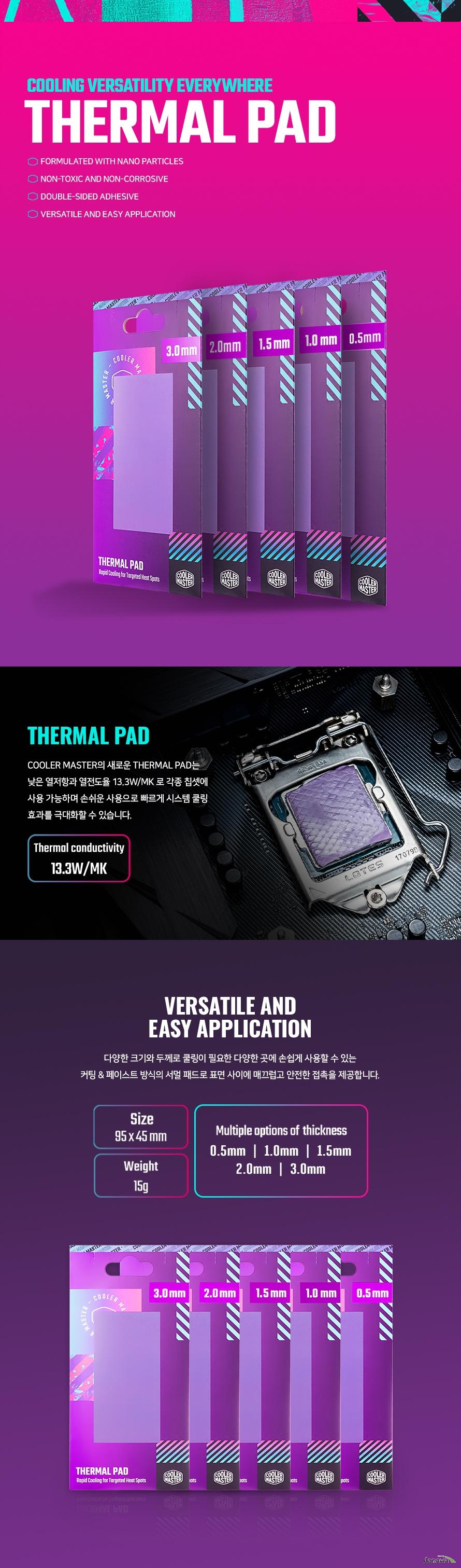 쿨러마스터 Thermal Pad (0.5mm)