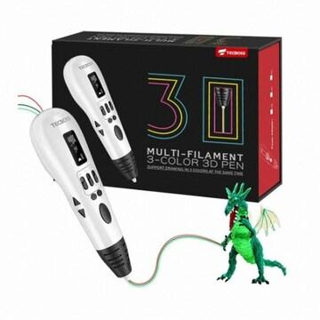 TECBOSS MULTI FILAMENT 3 COLOR 3D PEN(해외구매)