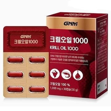지엔엠라이프 GNM자연의품격 크릴오일 1000 30캡슐(1개)