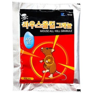 케이팜 마우스올킬 그래뉼 쌀쥐약 50g(1개)