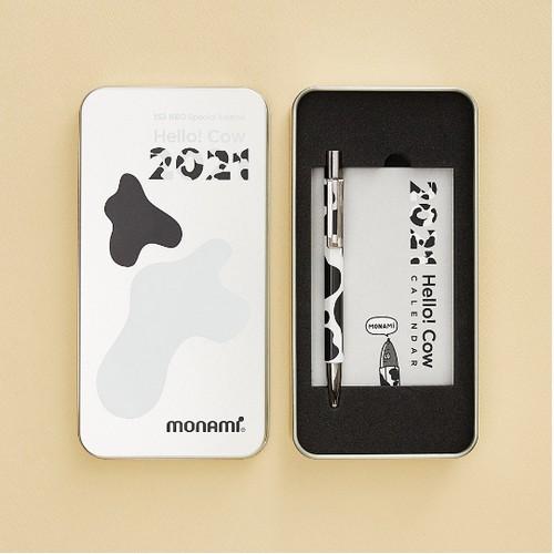 모나미 153 네오 카우 에디션 2021 한정판 볼펜 0.7mm