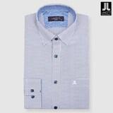 란체티  네이비 도트 프린트 일반핏 긴소매 셔츠 LPF8211NA_이미지