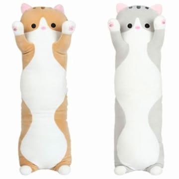 짱 긴 고양이 죽부인 모찌인형 (해외구매)