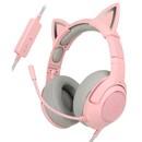 핑크 고양이 귀 가상 7.1 채널 진동 게이밍 헤드셋 B772