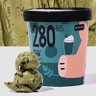 스키니피그 저칼로리 아이스크림 쑥라떼 파인트 474ml (1개)_이미지