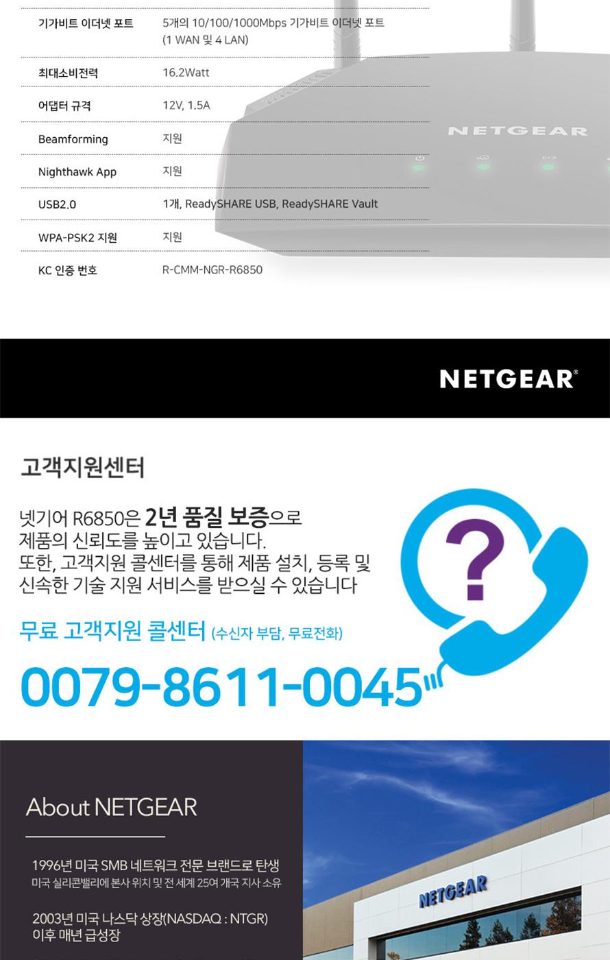 넷기어 R6850 유무선공유기