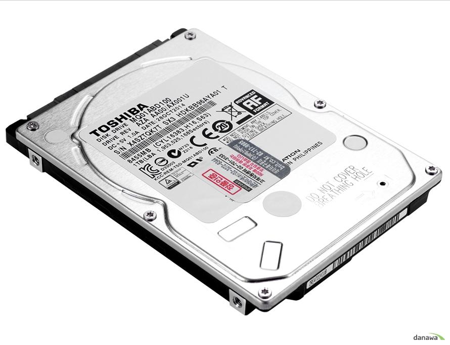 Toshiba의 고성능 노트북 하드디스크