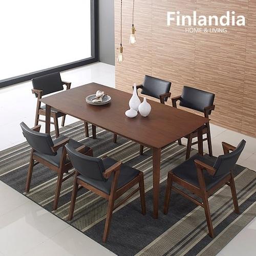 올펀 핀란디아 멜로디S 식탁세트 1800 (의자6개)_이미지