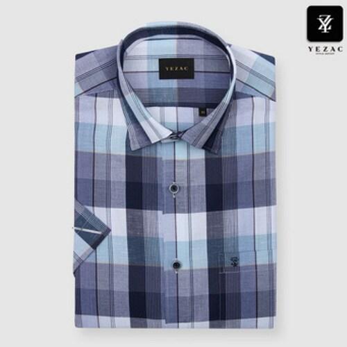 패션그룹형지 예작 미디엄체크 일반핏 반소매 셔츠 YJ8MBA801BL_이미지