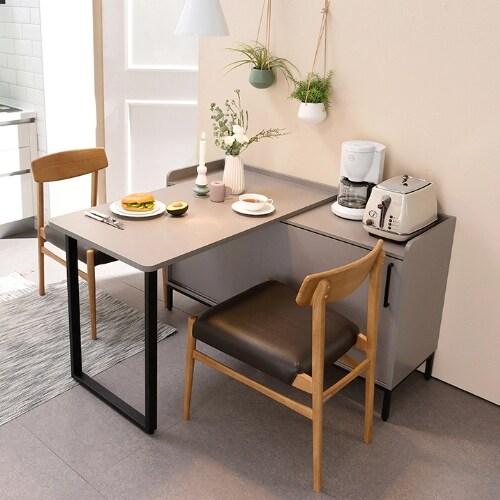 리바트 키친 트루 확장형 수납 식탁 (의자별도)_이미지