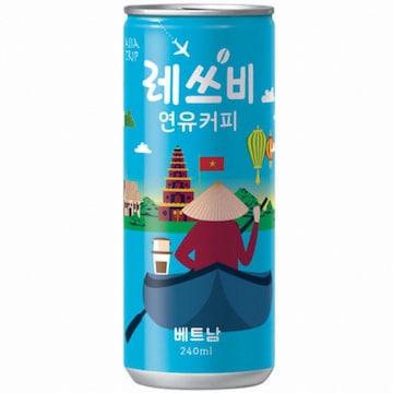 롯데칠성 레쓰비 연유커피 (베트남) 240ml(30개)