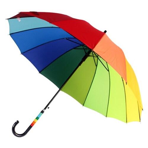 바니브라운  비오니 14K 무지개 자동 장우산_이미지