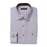 루이까또즈  일반핏 배색 포인트버튼 잔체크 브라운 셔츠 L7C32A_이미지