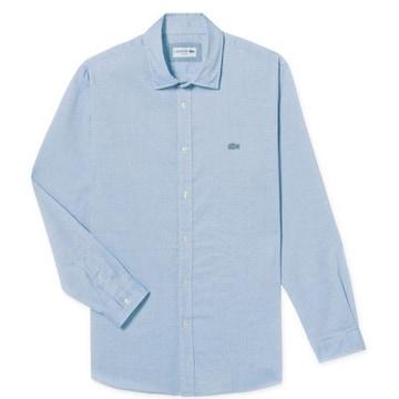 동일드방레 라코스테 남성 톤온톤 크록 와펜 슬림 셔츠 CH1005-17C (스카이블루)