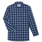 동일드방레 라코스테 남성 포플린 멀티 체크 코튼 슬림 셔츠 CH7503-18A (네이비)_이미지