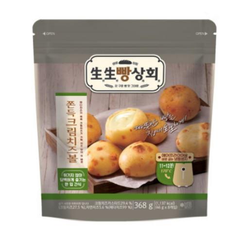 롯데제과 생생빵상회 쫀득 크림 치즈볼 8개입 368g(2개)