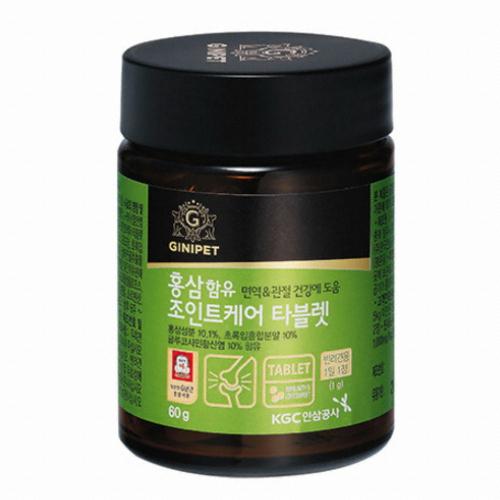 한국인삼공사 지니펫 홍삼함유 조인트케어 타블렛 60g(1개)